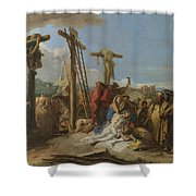The Lamentation At The Foot Of The Cross Shower Curtain