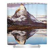 The Matterhorn Mountain In Switzerland Shower Curtain