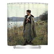 The Shepherdess Of Rolleboise Shower Curtain