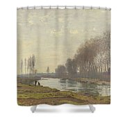The Small Branch Of The Seine At Argenteuil Shower Curtain
