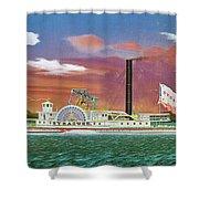 The Steamship Syracuse Shower Curtain
