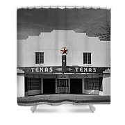 The Texas Theatre Of Bronte Texas Shower Curtain