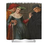 The Woman Between Two Ages Shower Curtain