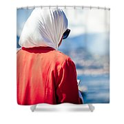 Thoughtful Women Shower Curtain
