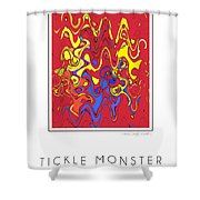 Tickle Monster Shower Curtain