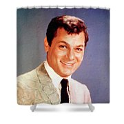 Tony Curtis Vintage Hollywood Actor Shower Curtain