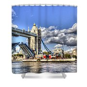 Tower Bridge And The Waverley Shower Curtain