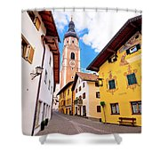 Town Of Kastelruth Street View Shower Curtain