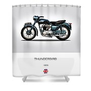 Triumph Thunderbird 1955 Shower Curtain