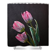 3 Tulips Shower Curtain