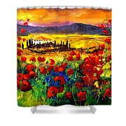 Tuscany Poppies Shower Curtain