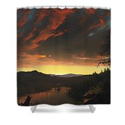Twilight In The Wilderness Shower Curtain