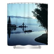 Ulu Danu Temple Shower Curtain