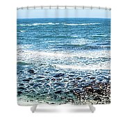 Usa California Pacific Ocean Coast Shoreline Shower Curtain