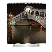 Venice By Night Shower Curtain by Joana Kruse
