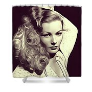 Veronica Lake, Vintage Actress Shower Curtain