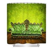 Victorian Sofa In Retro Room Shower Curtain