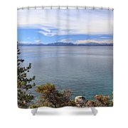 View Across Lake Tahoe Shower Curtain