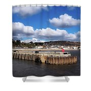 View From The Cobb - Lyme Regis Shower Curtain