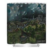 View Of Toledo Shower Curtain