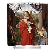 Virgin And Child With Four Angels Shower Curtain