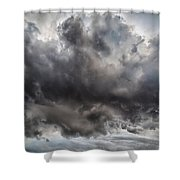 Volcanic Plumes With Poisonous Gases Shower Curtain