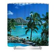 Waikiki And Diamond Head Shower Curtain