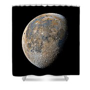 Waning Gibbous Moon / Day 20 Shower Curtain