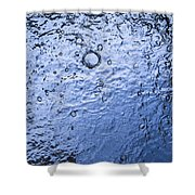 Water Abstraction - Blue Shower Curtain