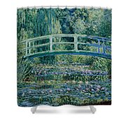 Water Lilies And Japanese Bridge Shower Curtain