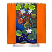 3 Water Nymphs Shower Curtain