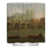 Westminster Abbey And Bridge Shower Curtain