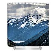 White Pass Mountains In British Columbia Shower Curtain