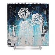 3 White Roses Shower Curtain