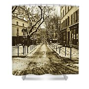 Winter In Paris Shower Curtain