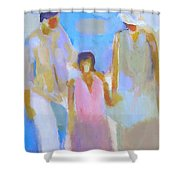 3 With Love Shower Curtain