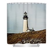 Yaquina Head Lighthouse - Toned By Texture Shower Curtain
