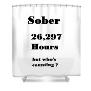 3 Years Sober Shower Curtain
