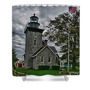 30-mile Point Lighthouse 3197 Shower Curtain