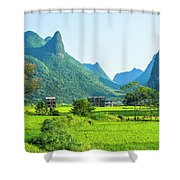 Rural Scenery In Summer Shower Curtain