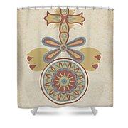 "Santa Barbara Mission Doorway Design From The Portfolio ""decorative Art Of Spanish California"" Shower Curtain"