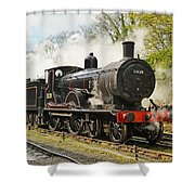 Steam Train At Rest. Shower Curtain
