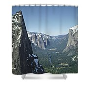 306754 Yosemite Valley From Union Point  Shower Curtain