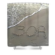 30a Beach Shower Curtain