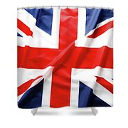 British Flag 6 Shower Curtain