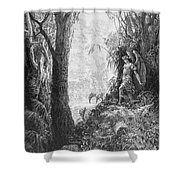 Milton: Paradise Lost Shower Curtain by Granger