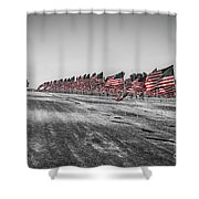 Pepperdine Flag Salute Shower Curtain
