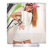 Cool Hip-hop Dancer Shower Curtain