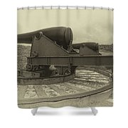32 Pounder Shower Curtain