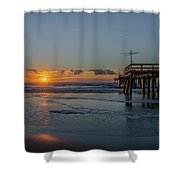 32nd Street Pier Avalon Nj - Sunrise Shower Curtain